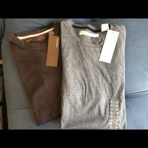 Perry Ellis size XXL lot of 2 plain T-shirt's NWT